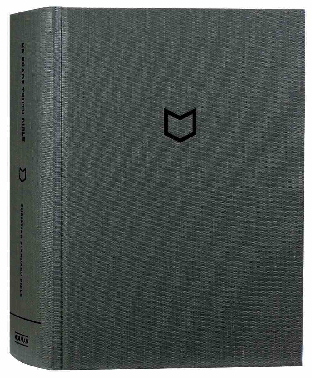 CSB He Reads Truth Bible Pewter Hardback