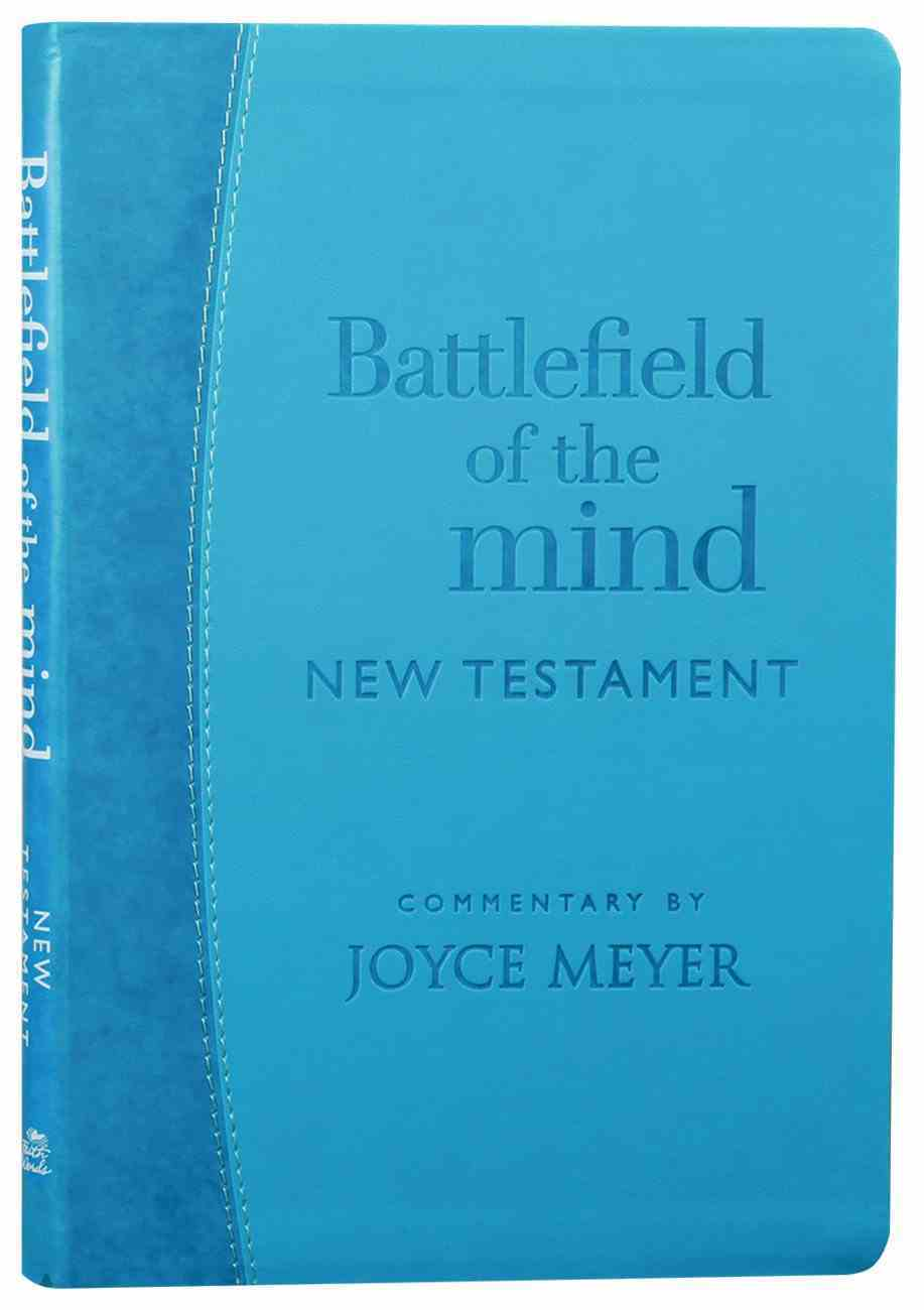Amp Battlefield of the Mind New Testament Arcadia Blue Bonded Leather