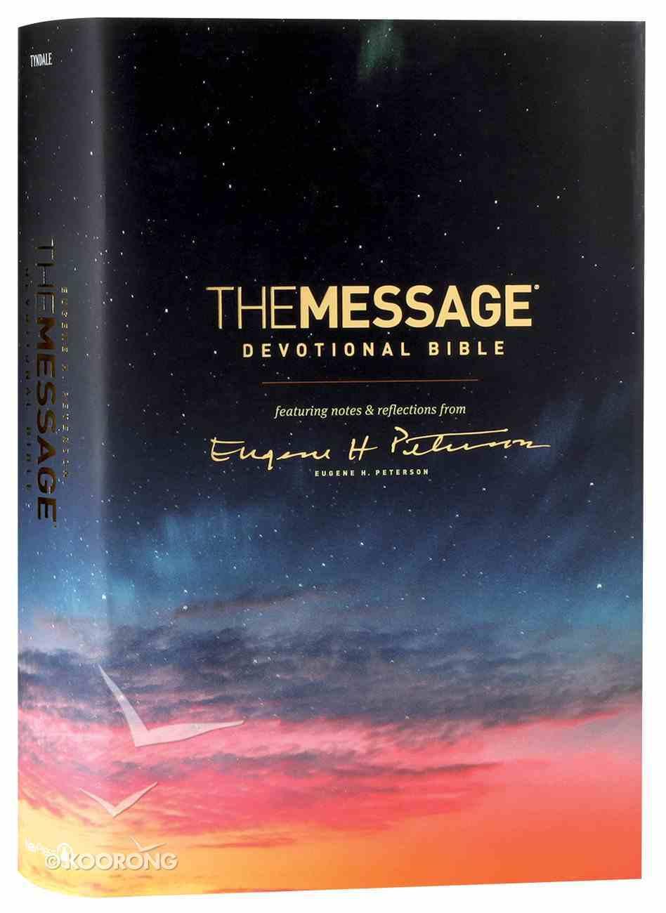 Message Devotional Bible (Black Letter Edition) Hardback