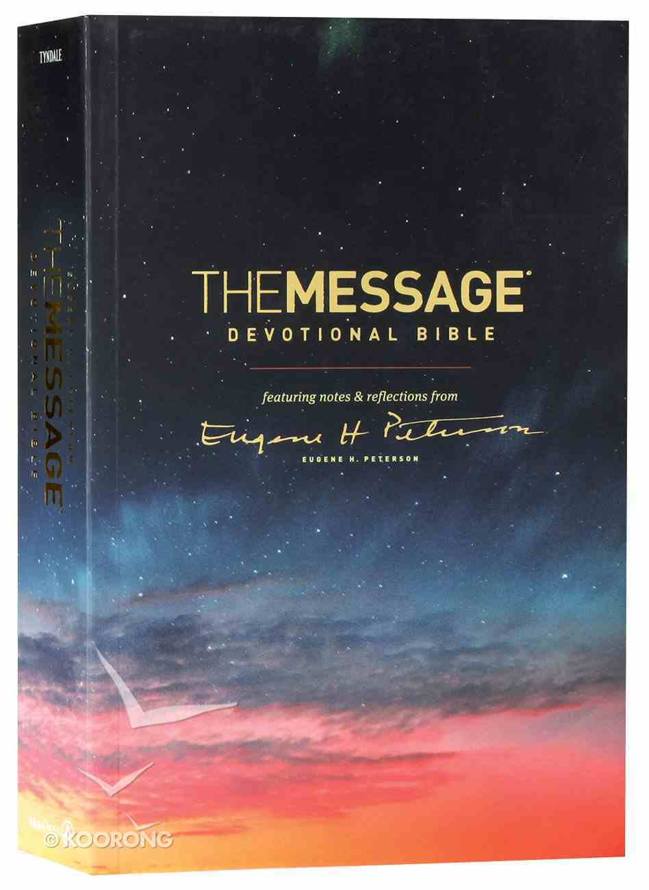 Message Devotional Bible (Black Letter Edition) Paperback
