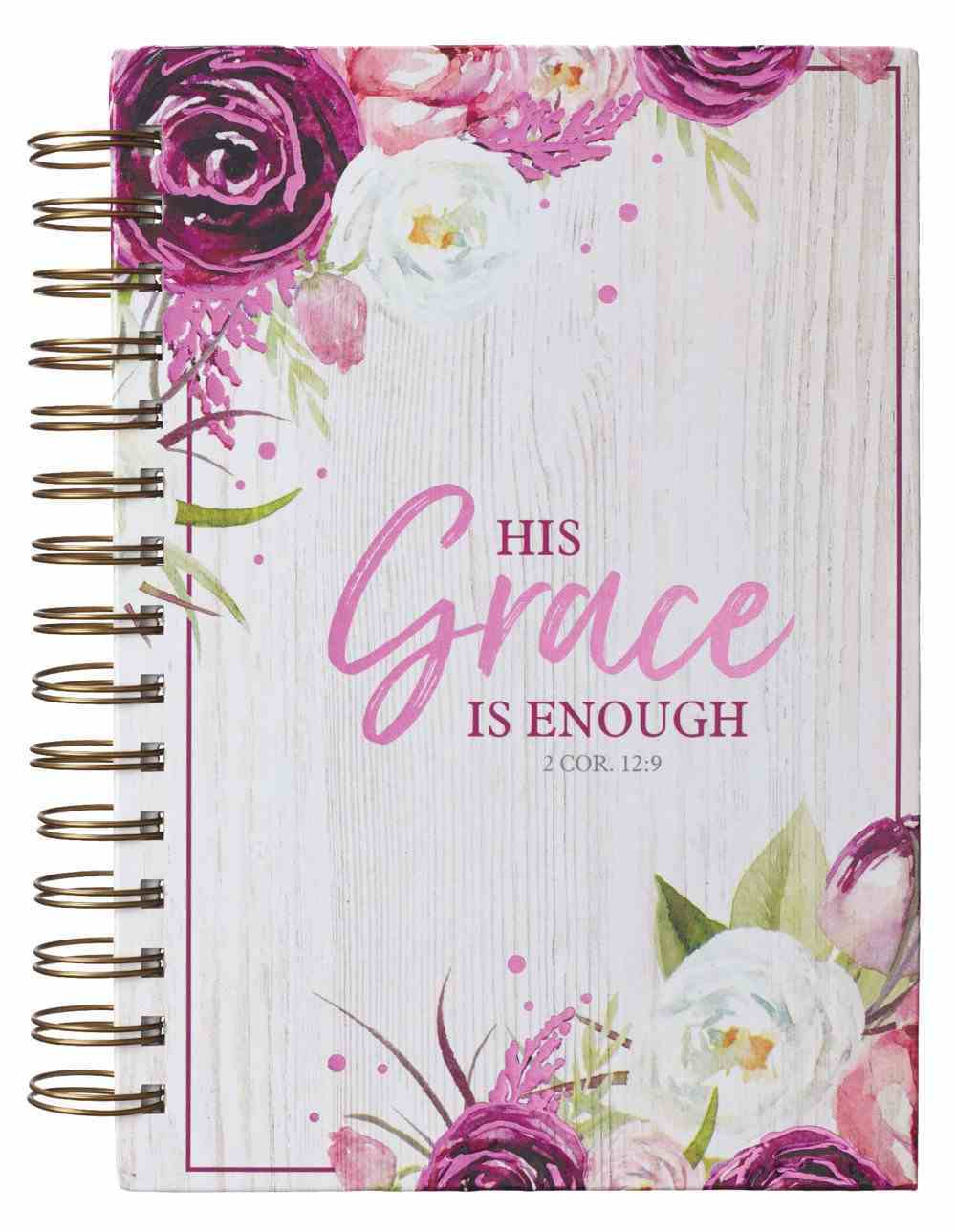 Journal: His Grace is Enough Burgundy (2 Cor 12:9) (His Grace Is Enough Collection) Spiral
