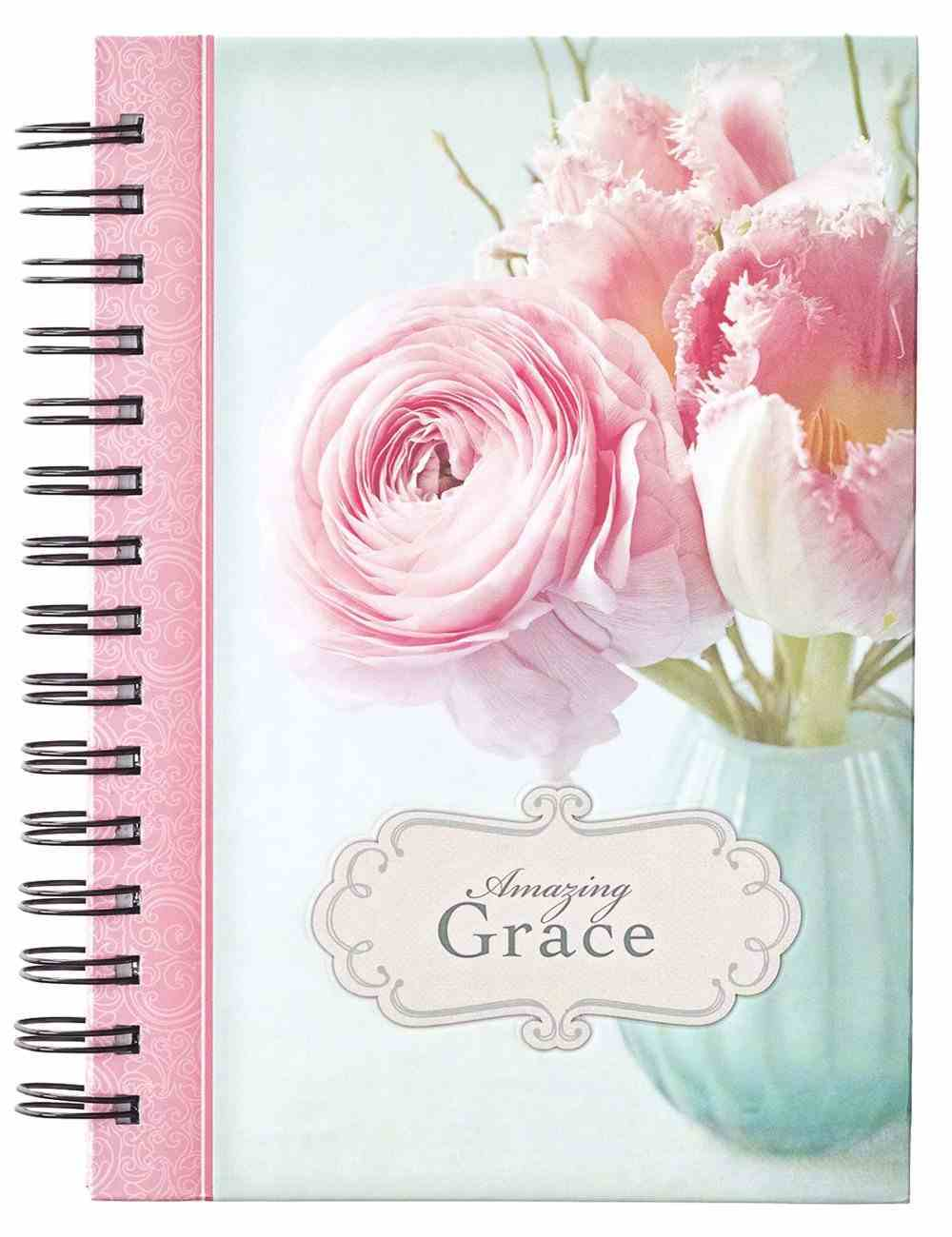 Journal: Amazing Grace, Pink Spiral