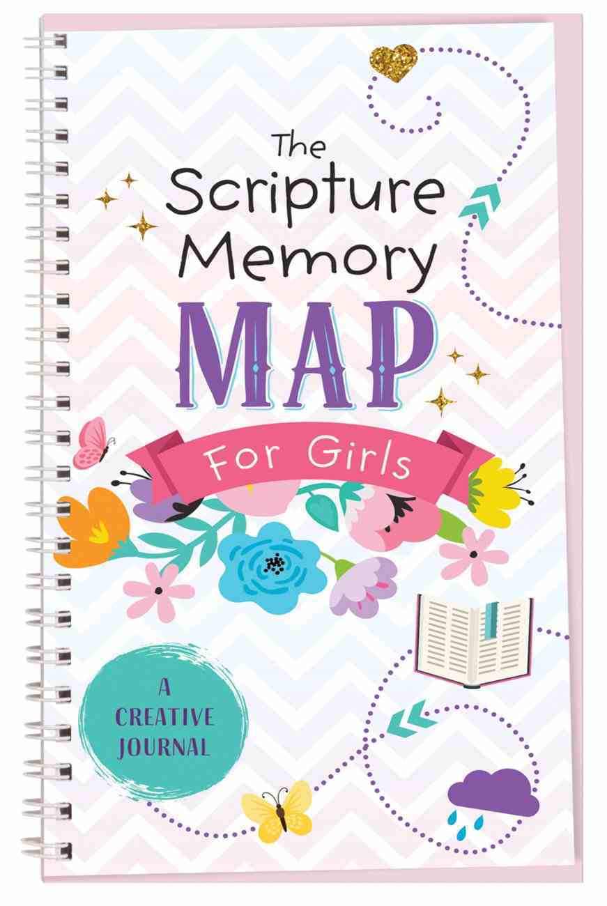 The Scripture Memory Map For Girls: A Creative Journal Spiral