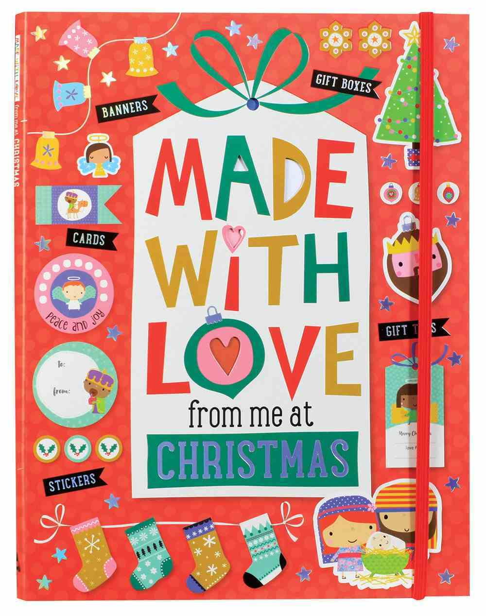 Made With Love From Me At Christmas Ages 6+ (Collection Of Cards, Tage, Notes, Stickers And Gift Boxes) Paperback