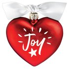 Christmas Glass Ornament Heart Shape: Joy, When They Saw a Star Homeware