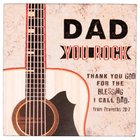 Dad You Rock Magnet: Scripture From Proverbs 20:7 Novelty