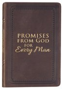 Promises From God For Every Man (Dark Brown Leather) Genuine Leather