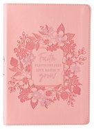 Journal: Grow in Faith, Pink Imitation Leather