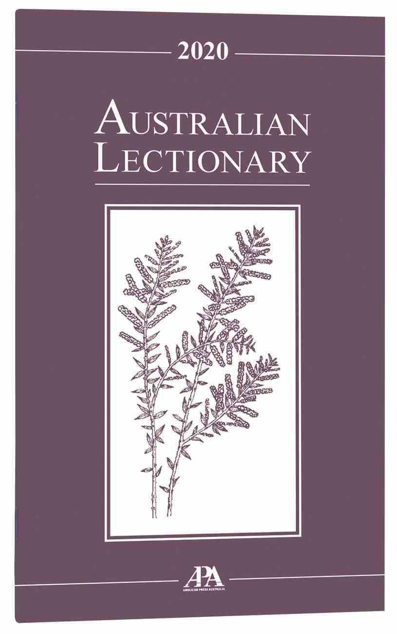 2020 Australian Lectionary An Australian Prayer Book (Year A) Paperback