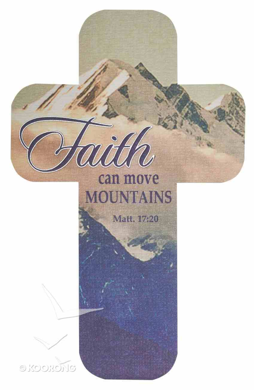 Bookmark Cross-Shaped: Faith Can Move Mountains Stationery