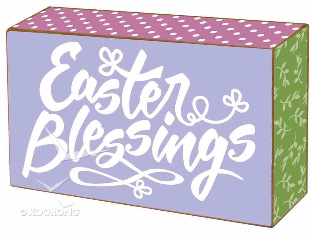 Freestanding Mdf Plaque: Easter Blessings Plaque