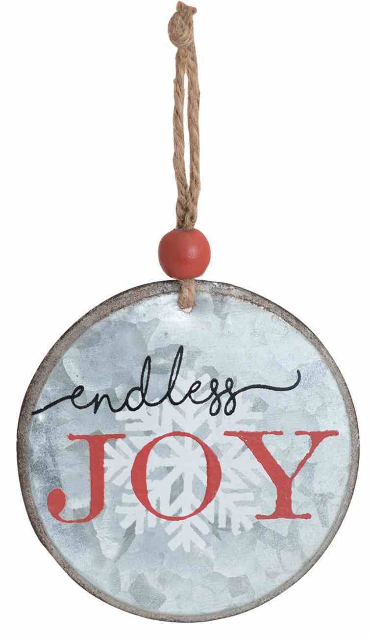 Christmas Metal Round Tree Ornament: Endless Joy Homeware