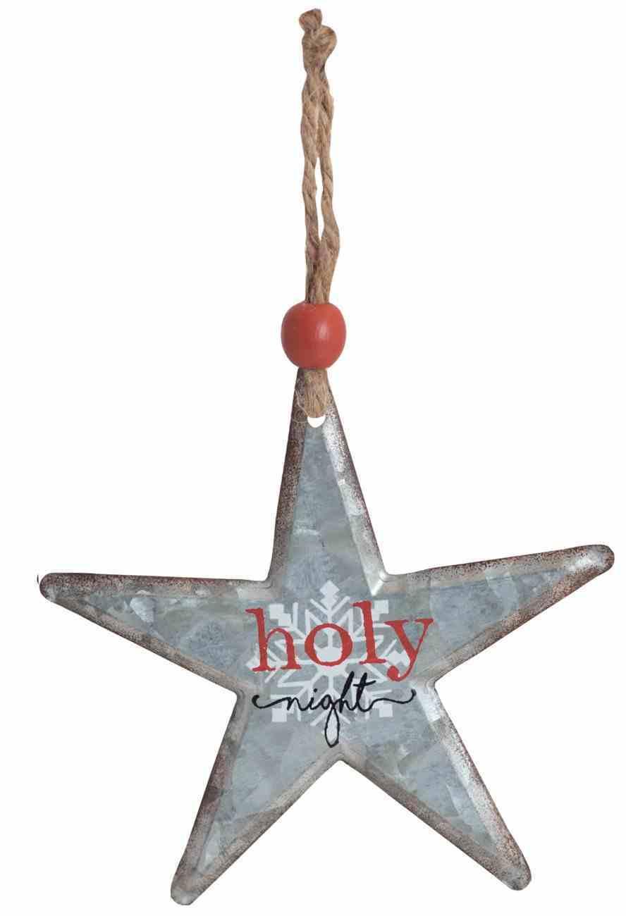 Christmas Metal Star Tree Ornament: Holy Night Homeware