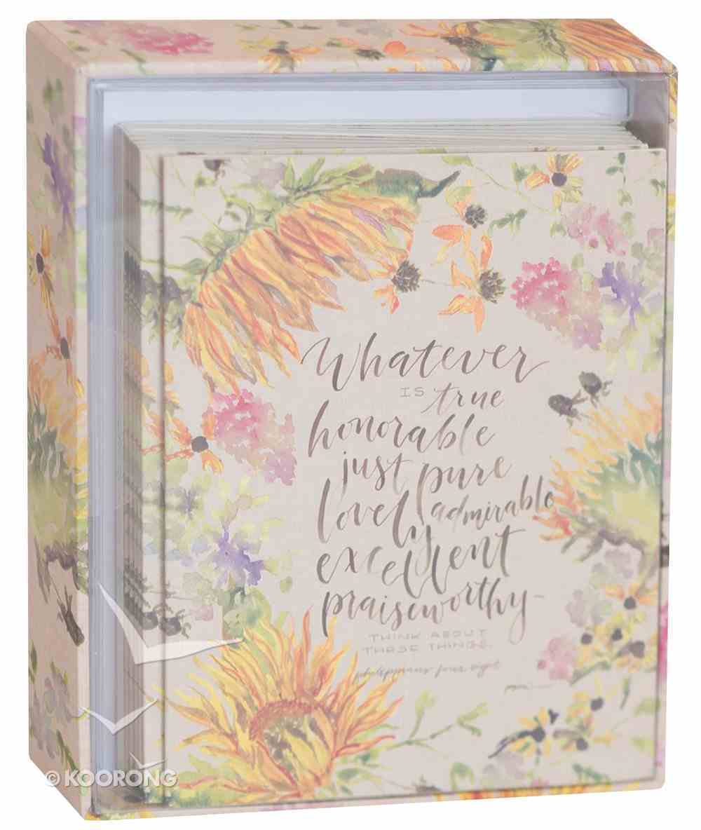 Gracelaced Boxed Cards: Whatever is True, Yellow/Country Floral Box