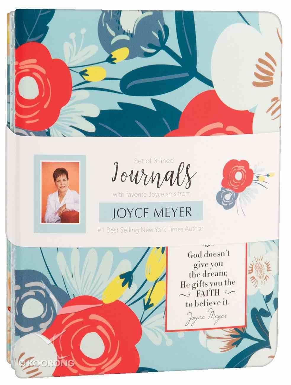 Joyce Meyer Journal 3 Pack: God's Gift to Me, Orange/Red/White/Blue Stationery