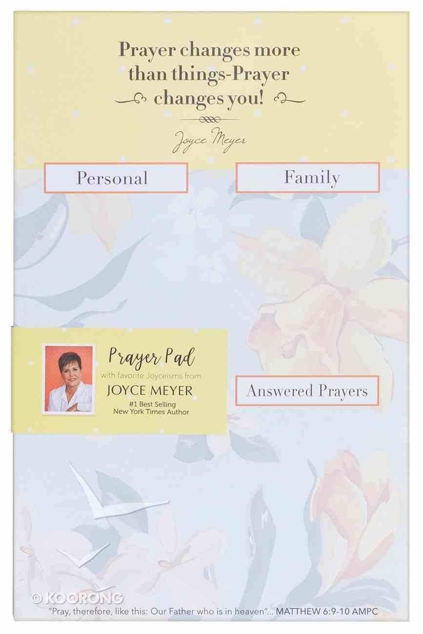 Joyce Meyer Prayer Pad: Prayer Changes More Than Things, Orange/Yellow/Blue Stationery