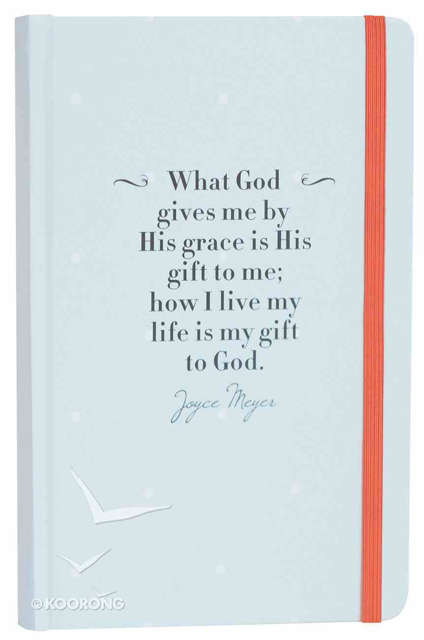 Joyce Meyer Journal: What God Gives Me, Blue With Red Elastic Closure Stationery