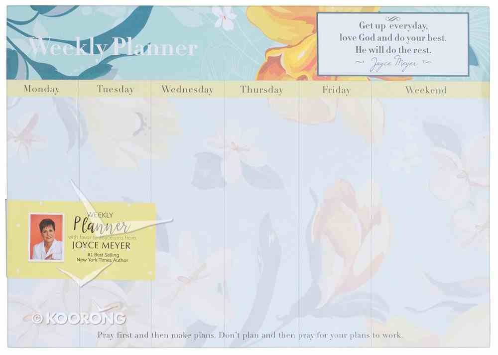 Joyce Meyer Weekly Planner: Do Your Best, Orange Flowers Stationery