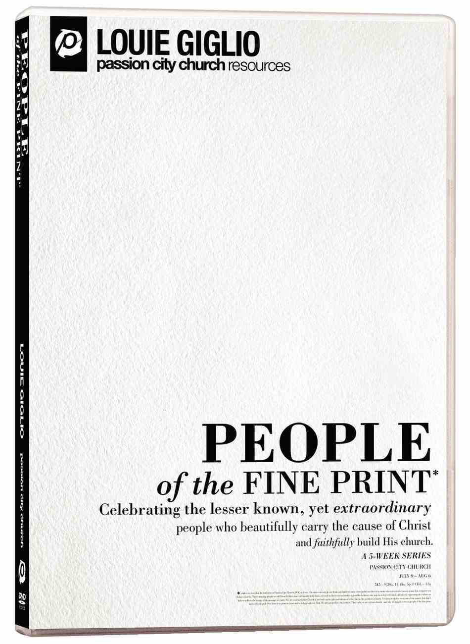 People of the Fine Print DVD