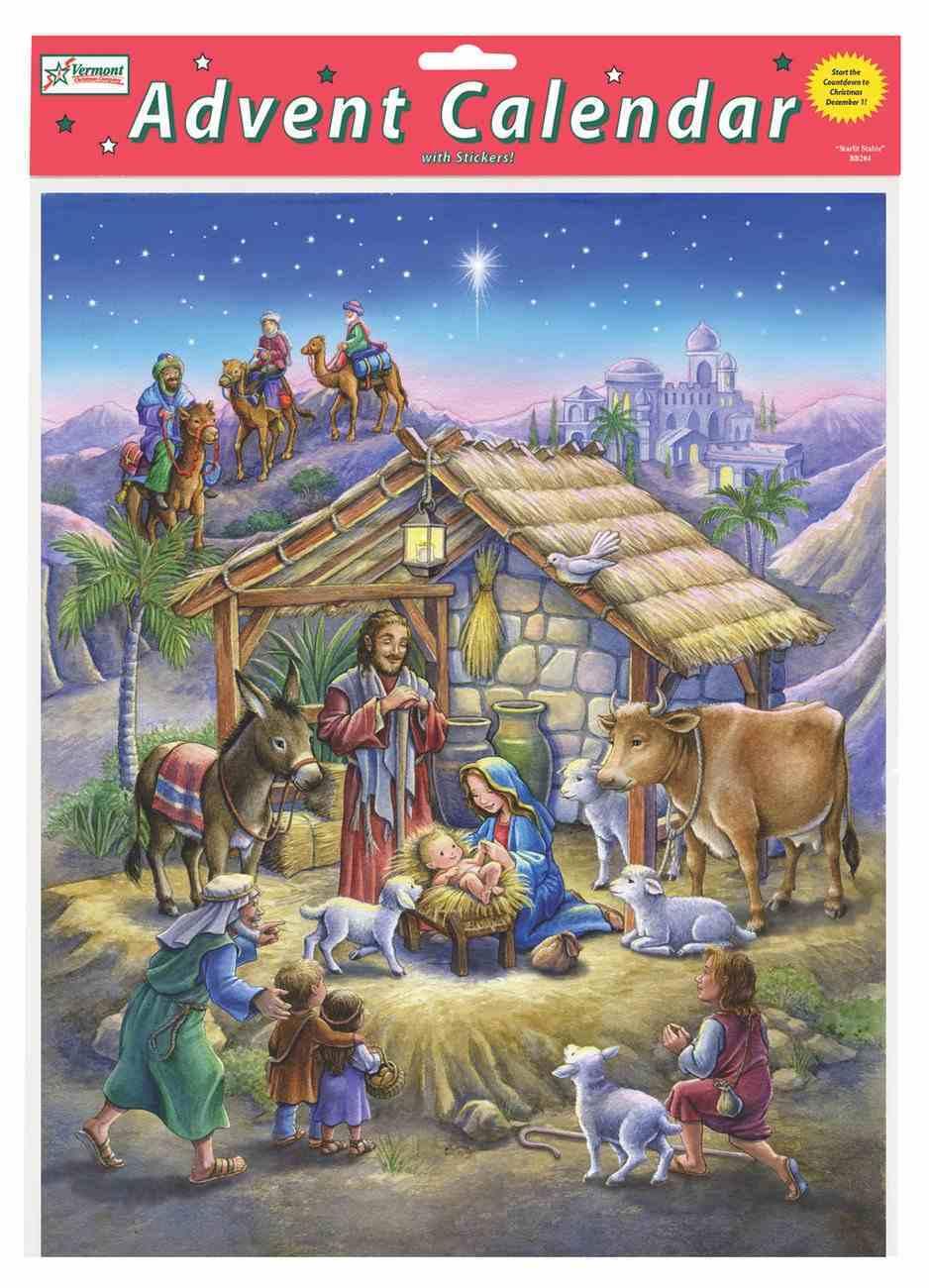 Advent Calendar: Peaceful Prince Nativity Scene, Glitter Genuine Leather