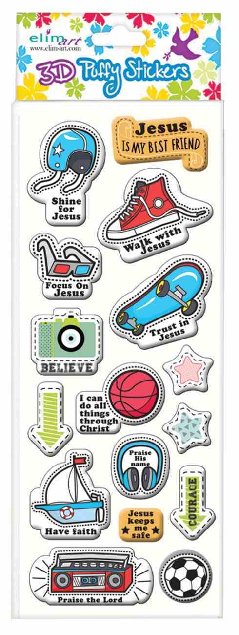 Puffy Stickers: Boy's Series (1 Sheet Per Pack) Novelty