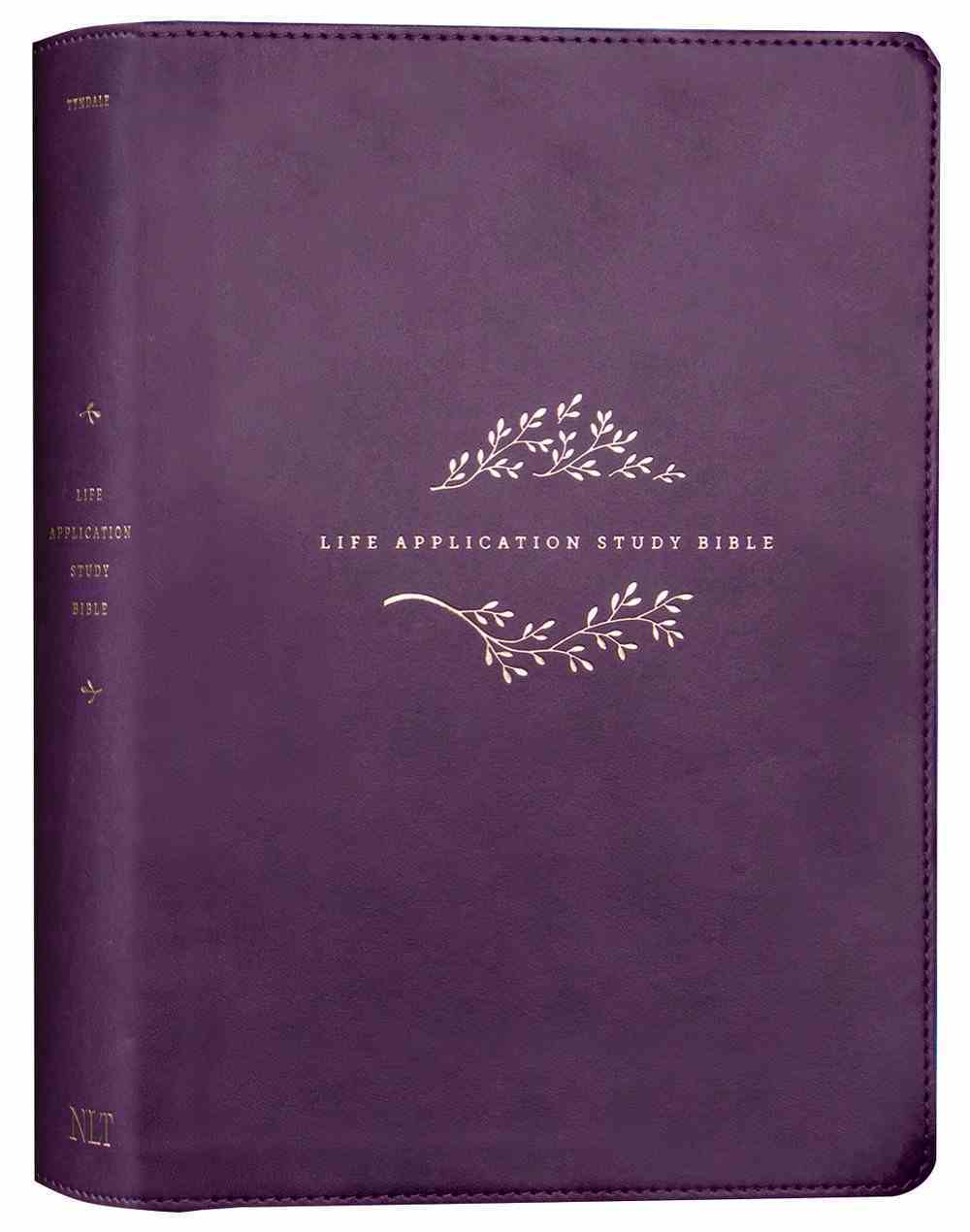 NLT Life Application Study Bible 3rd Edition Purple (Black Letter Edition) Imitation Leather
