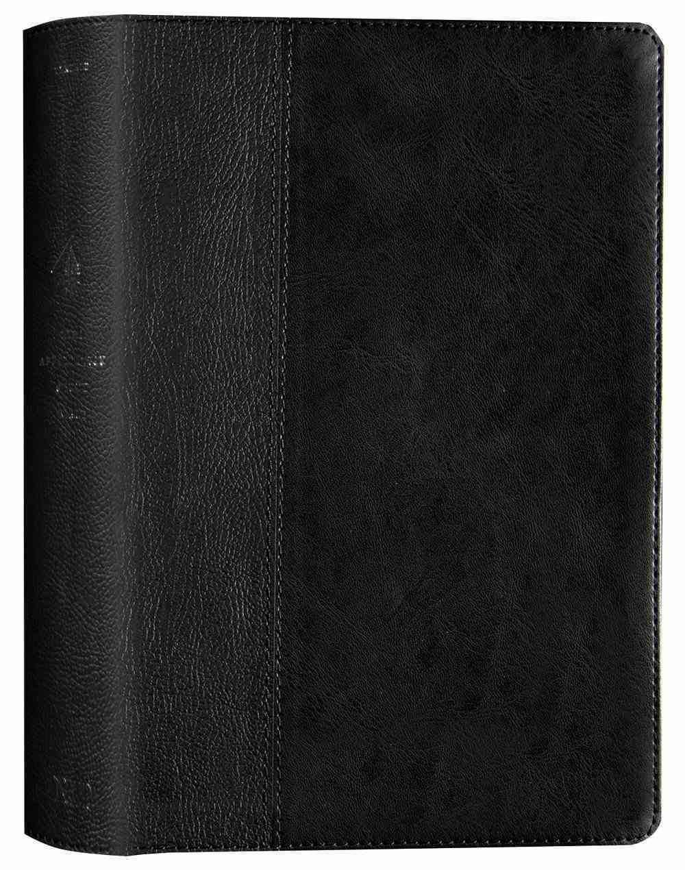 NLT Life Application Study Bible3 3rd Edition Black/Onyx (Black Letter Edition) Imitation Leather