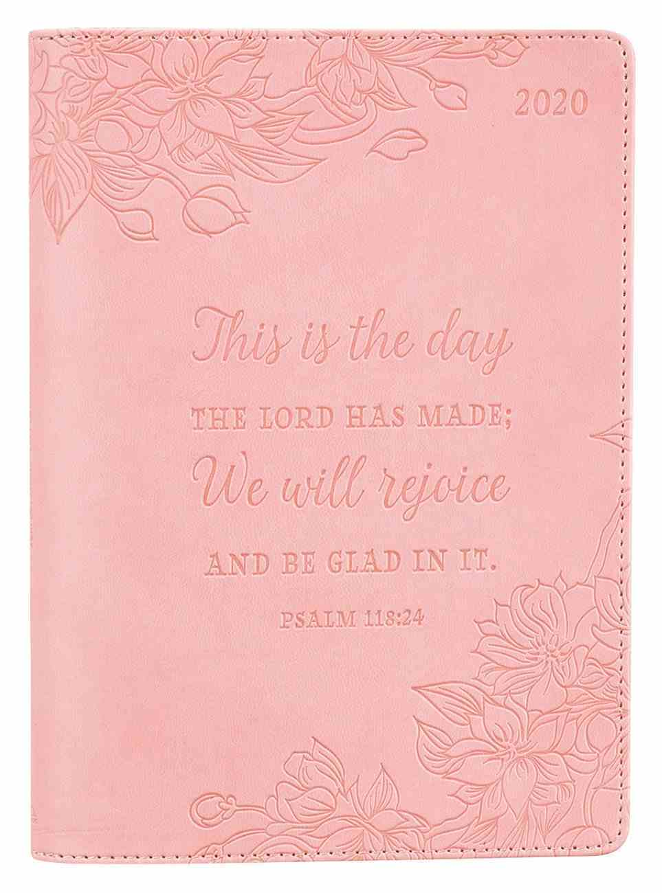 2020 Executive 12-Month Diary/Planner: This is the Day the Lord Has Made, Pink/Embossed Flowers Imitation Leather