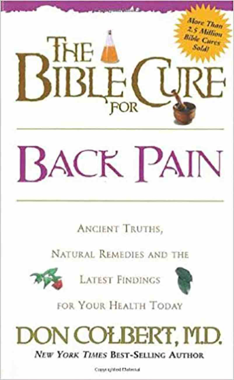 Back Pain (Bible Cure Series) Paperback
