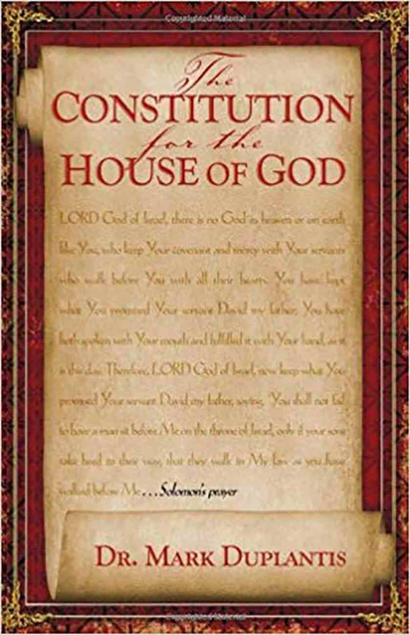 The Constitution For the House of God Paperback
