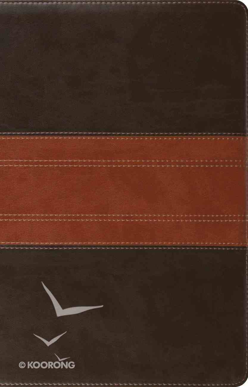 ESV Large Print Thinline Reference Bible Forest/Tan Trail Design (Black Letter Edition) Imitation Leather