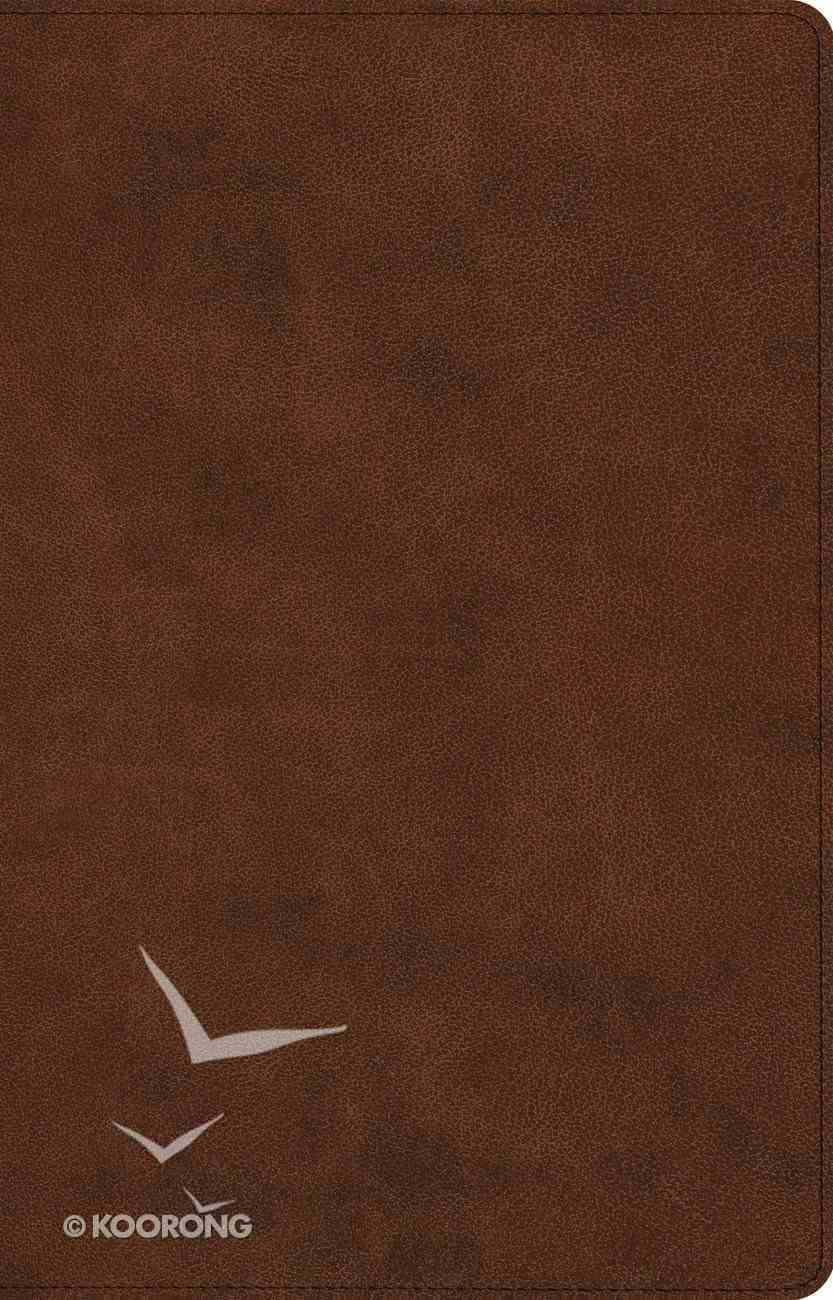 ESV Large Print Thinline Reference Bible Brown (Black Letter Edition) Imitation Leather