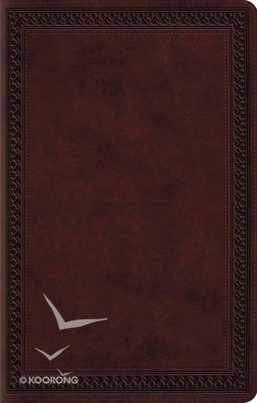 ESV Premium Gift Bible Mahogany Border Design (Black Letter Edition) Imitation Leather