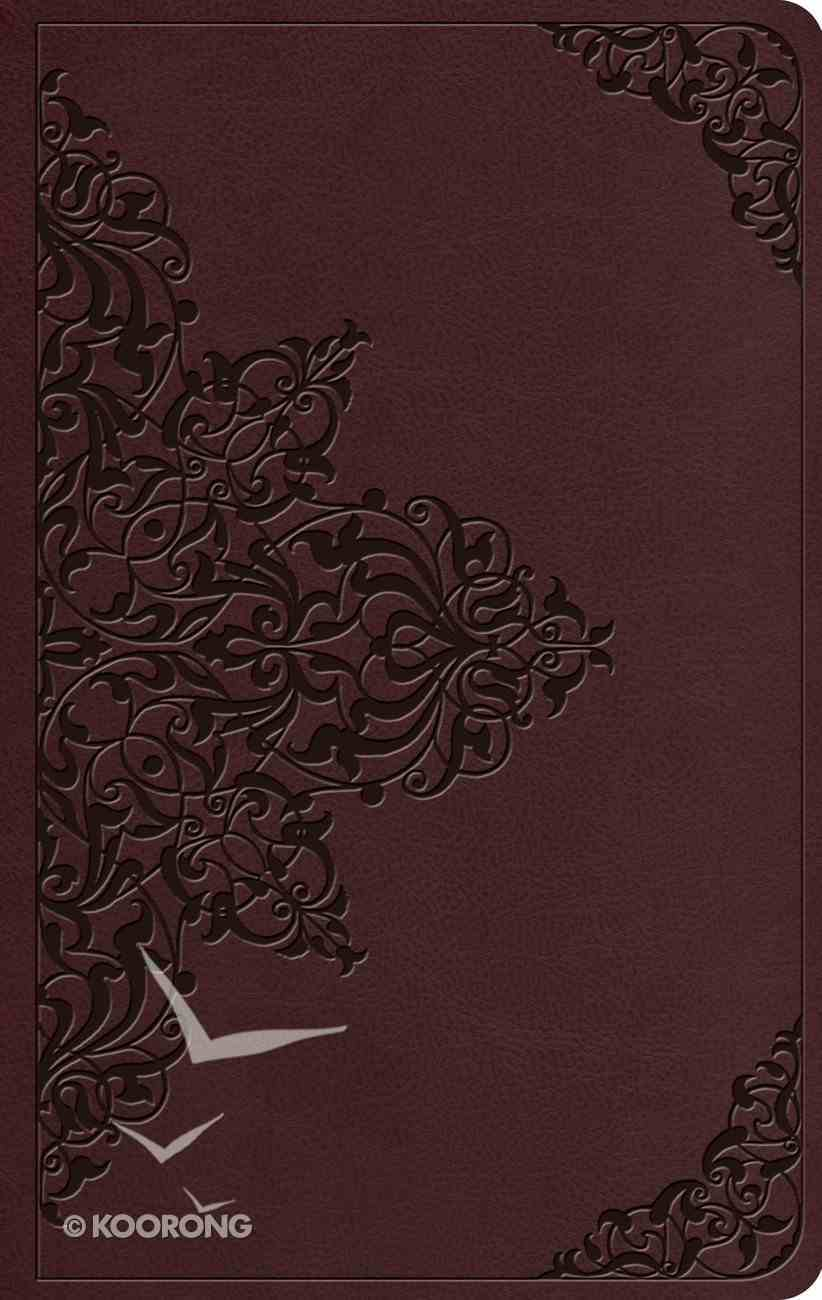 ESV Value Thinline Bible Chestnut Filigree Design (Black Letter Edition) Imitation Leather