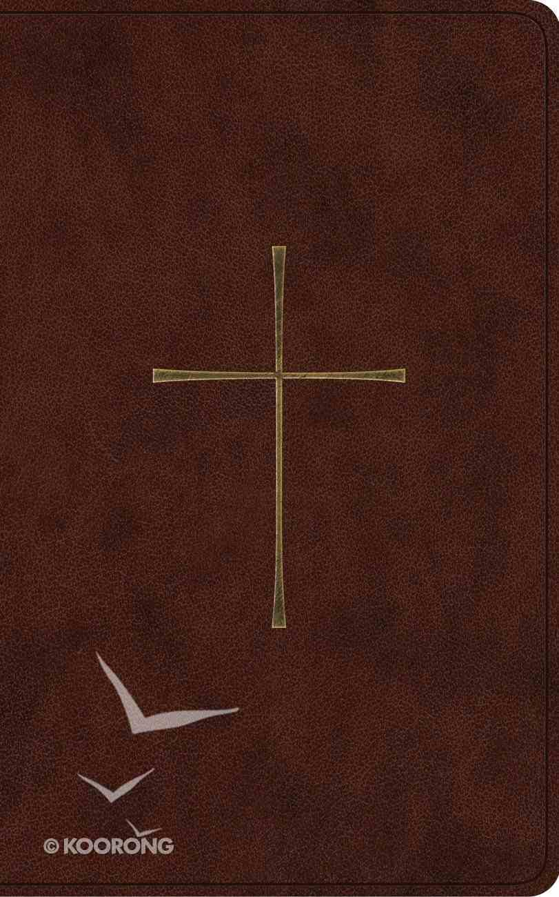 ESV Vest Pocket New Testament With Psalms and Proverbs Dark Brown Cross Design (Red Letter Edition) Imitation Leather