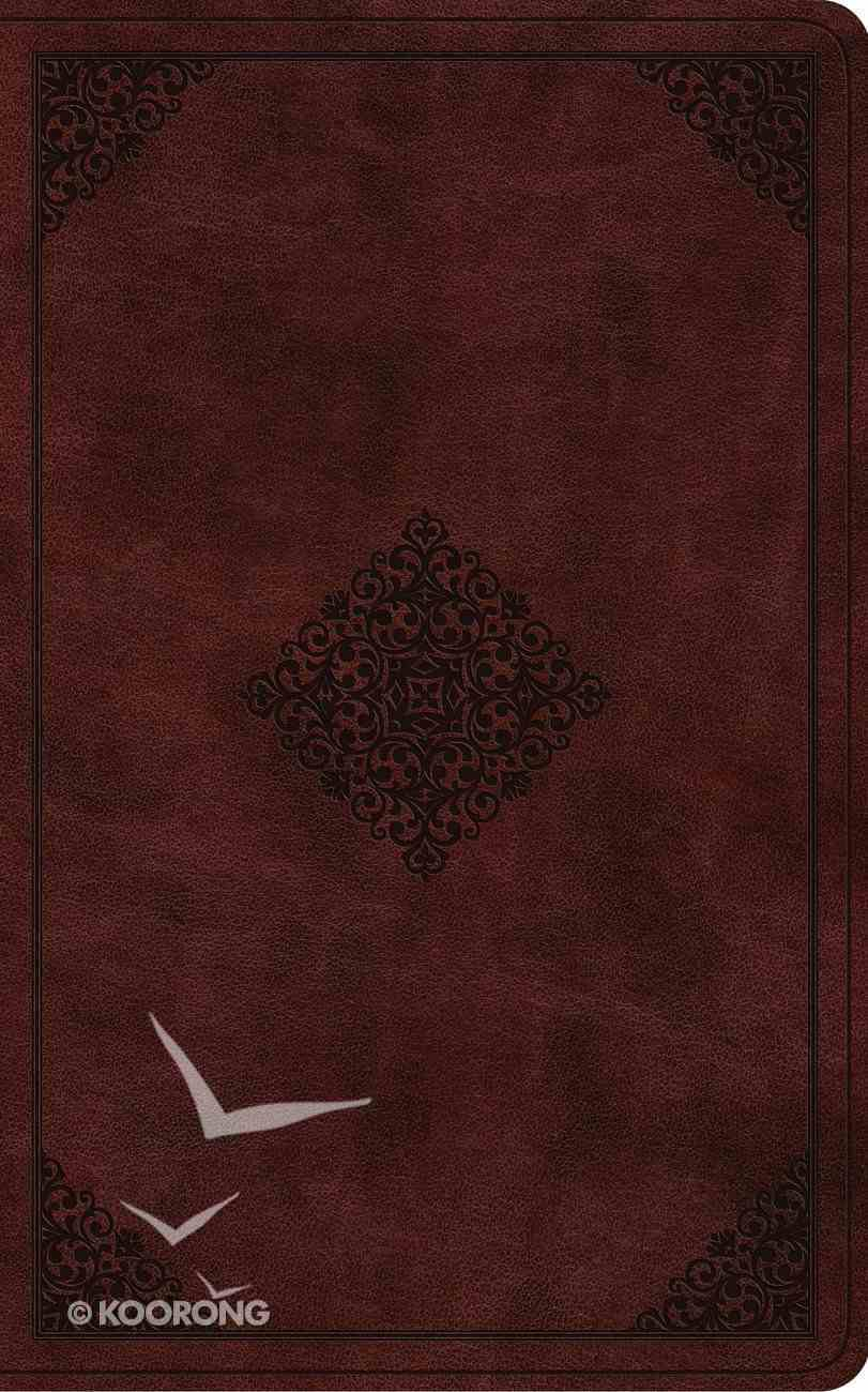 ESV Vest Pocket New Testament With Psalms and Proverbs Burgundy Ornament Design (Red Letter Edition) Imitation Leather