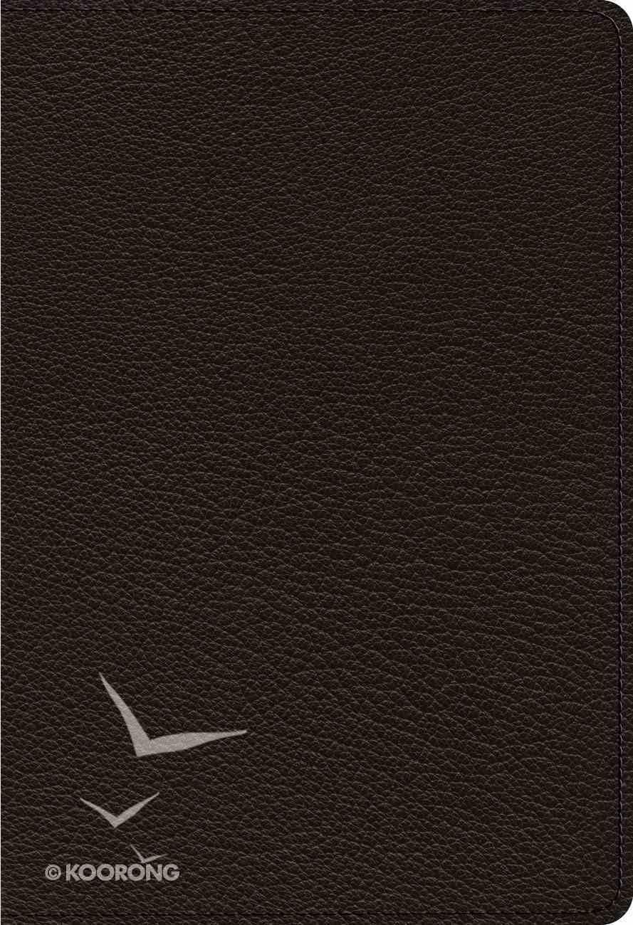 ESV Heirloom Single Column Personal Size Bible Black Genuine Leather