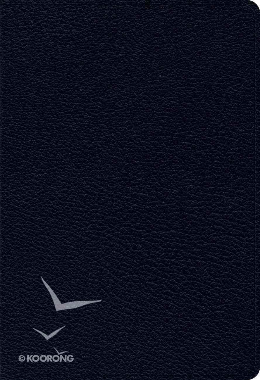 ESV Heirloom Single Column Personal Size Bible Blue Genuine Leather