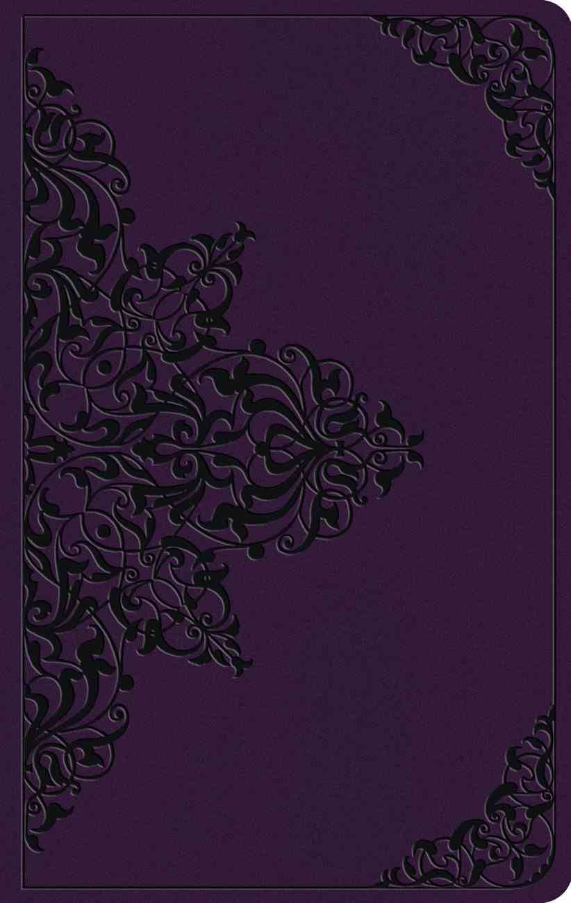 ESV Large Print Value Thinline Bible Lavender Filigree Design (Black Letter Edition) Imitation Leather