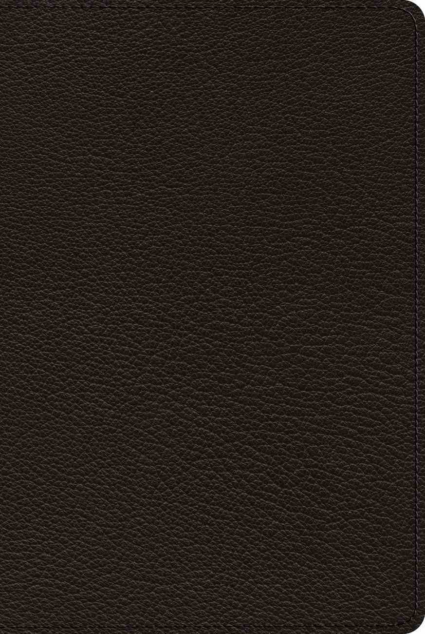 ESV Bible With Creeds and Confessions Black (Black Letter Edition) Genuine Leather