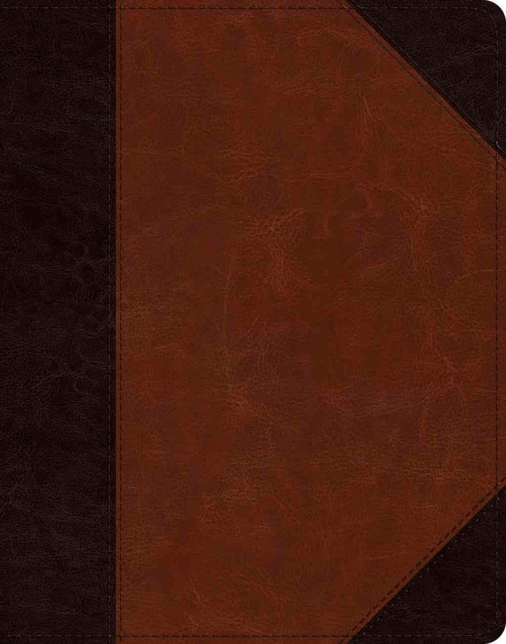 ESV Single Column Journaling Bible Brown/Cordovan Portfolio Design (Black Letter Edition) Imitation Leather