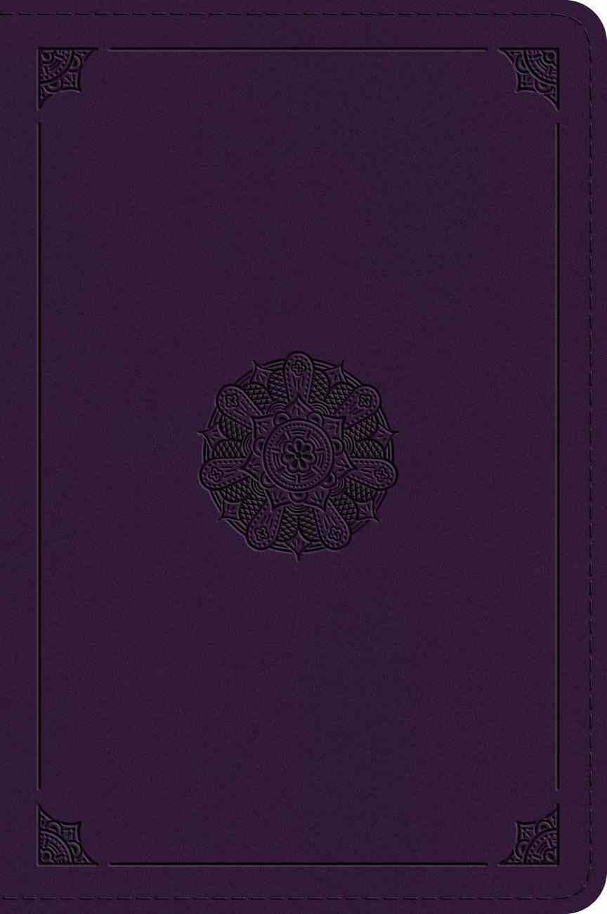 ESV Large Print Bible Lavender Emblem Design (Black Letter Edition) Imitation Leather