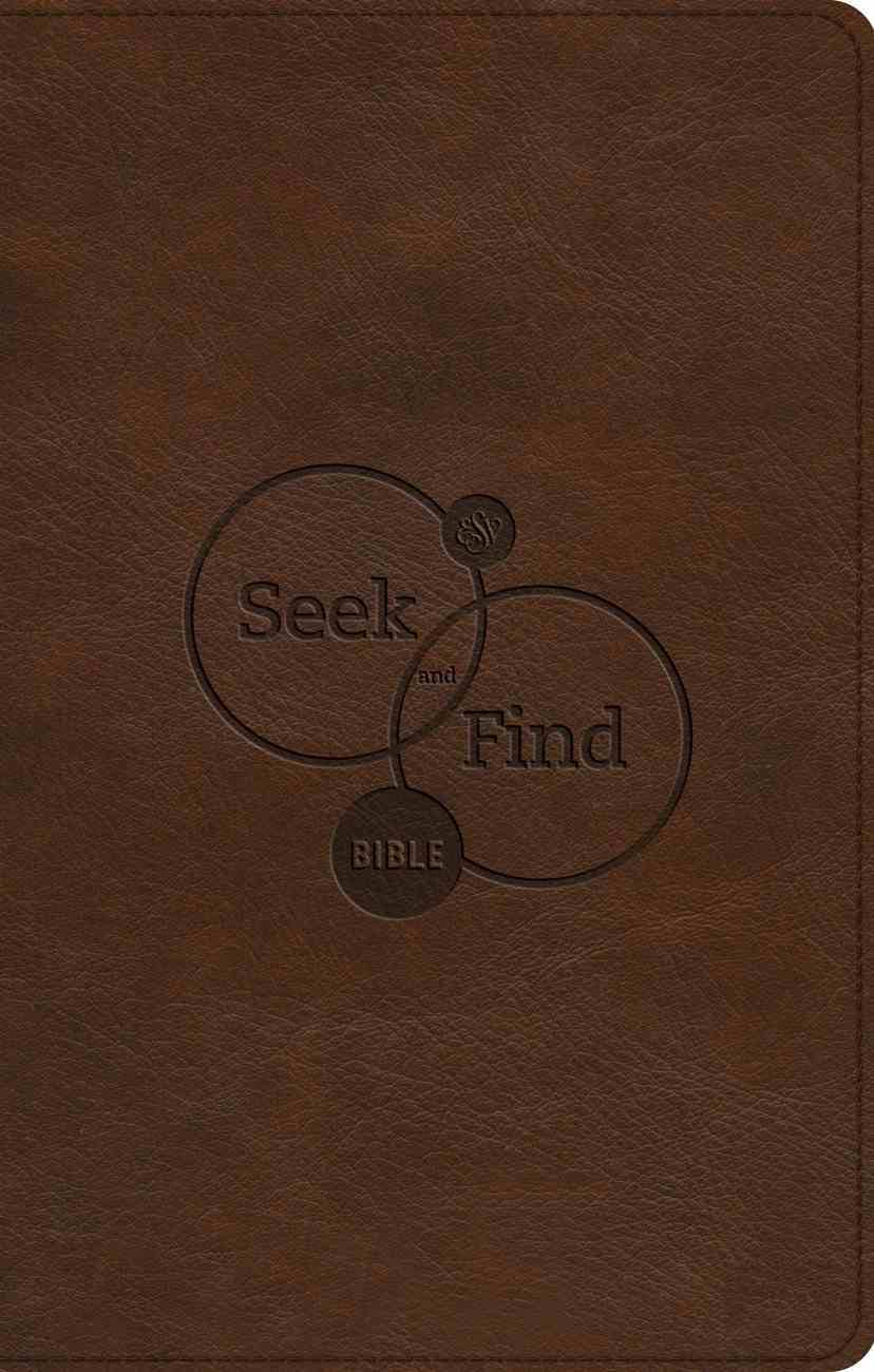 ESV Seek and Find Bible Brown (Black Letter Edition) Imitation Leather