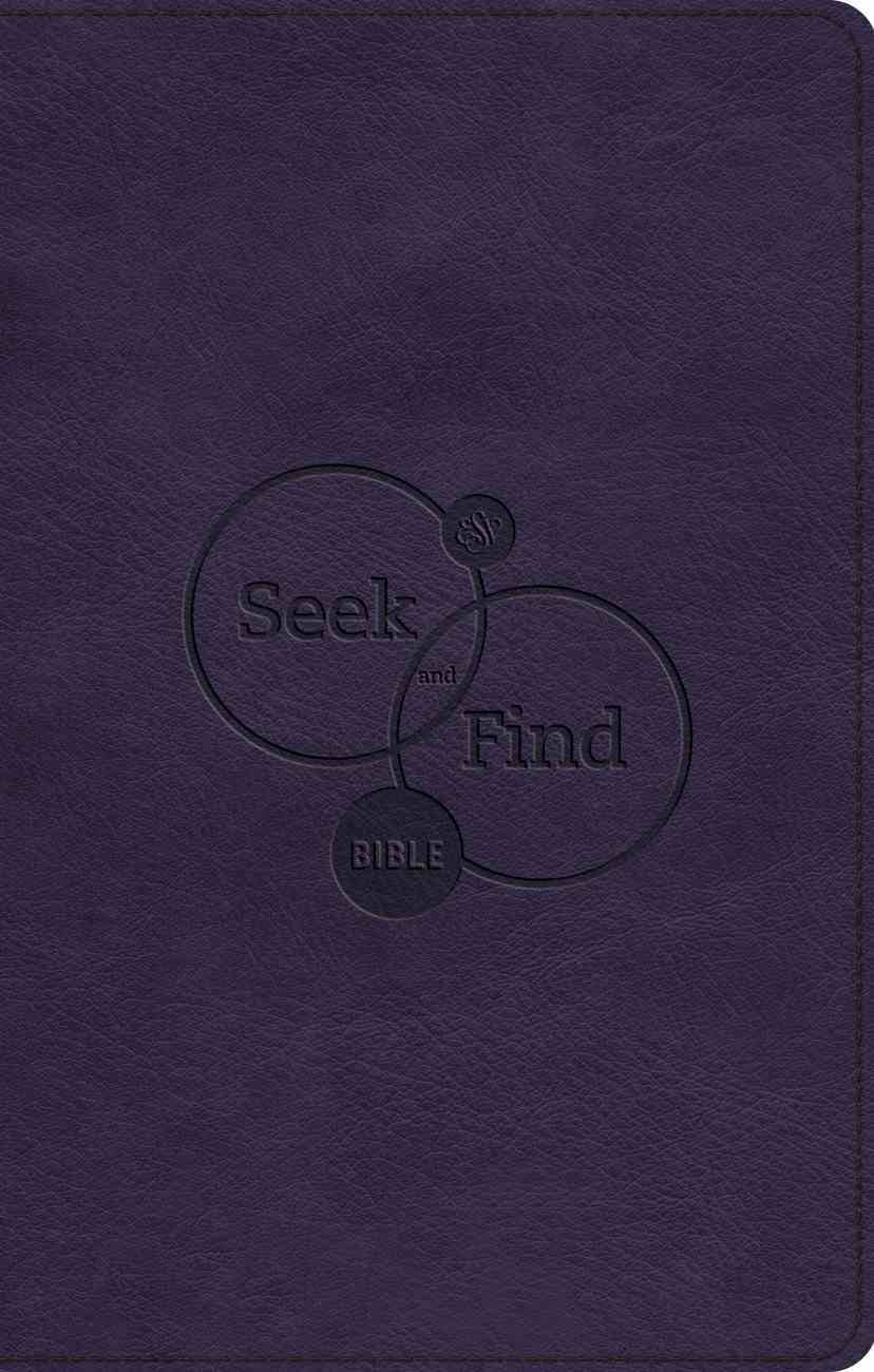 ESV Seek and Find Bible Purple (Black Letter Edition) Imitation Leather