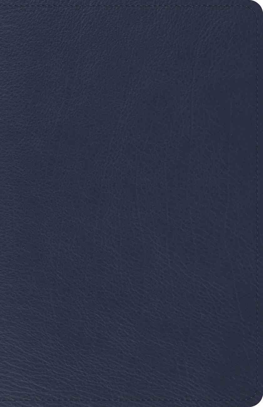 ESV Heirloom Thinline Bible Blue (Black Letter Edition) Genuine Leather
