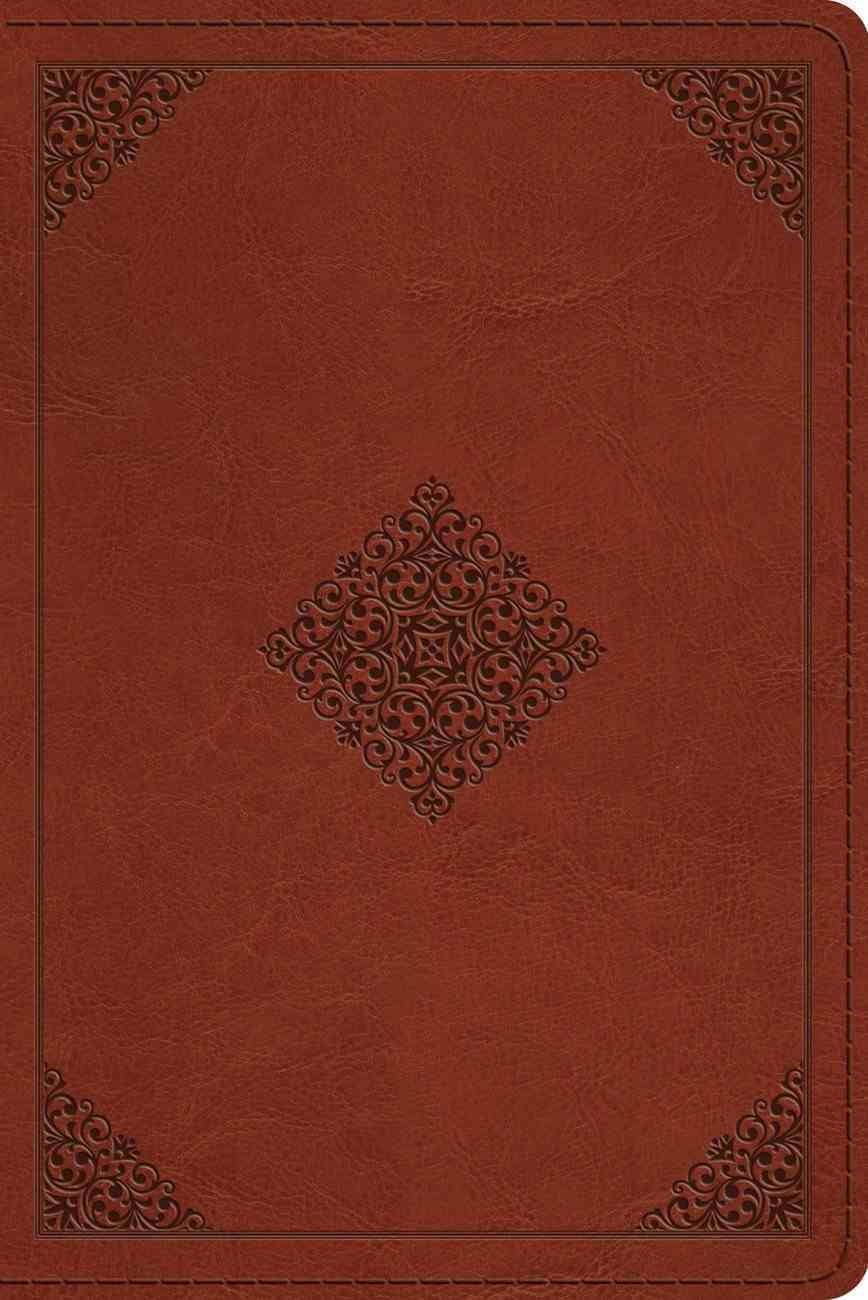 ESV Personal Reference Bible Saddle Ornament Design (Black Letter Edition) Imitation Leather