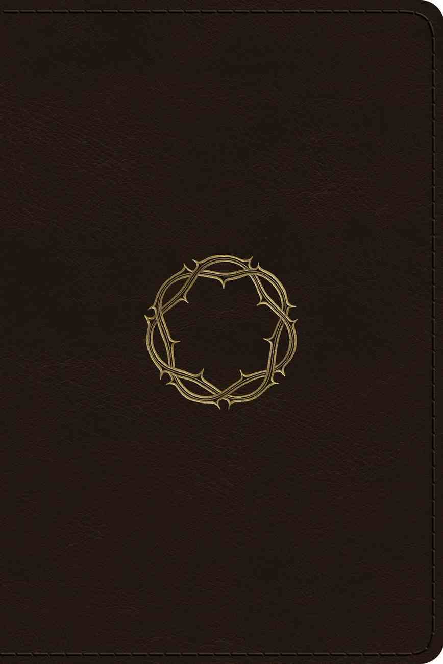 ESV Personal Reference Bible Deep Brown Royal Crown Design (Black Letter Edition) Imitation Leather