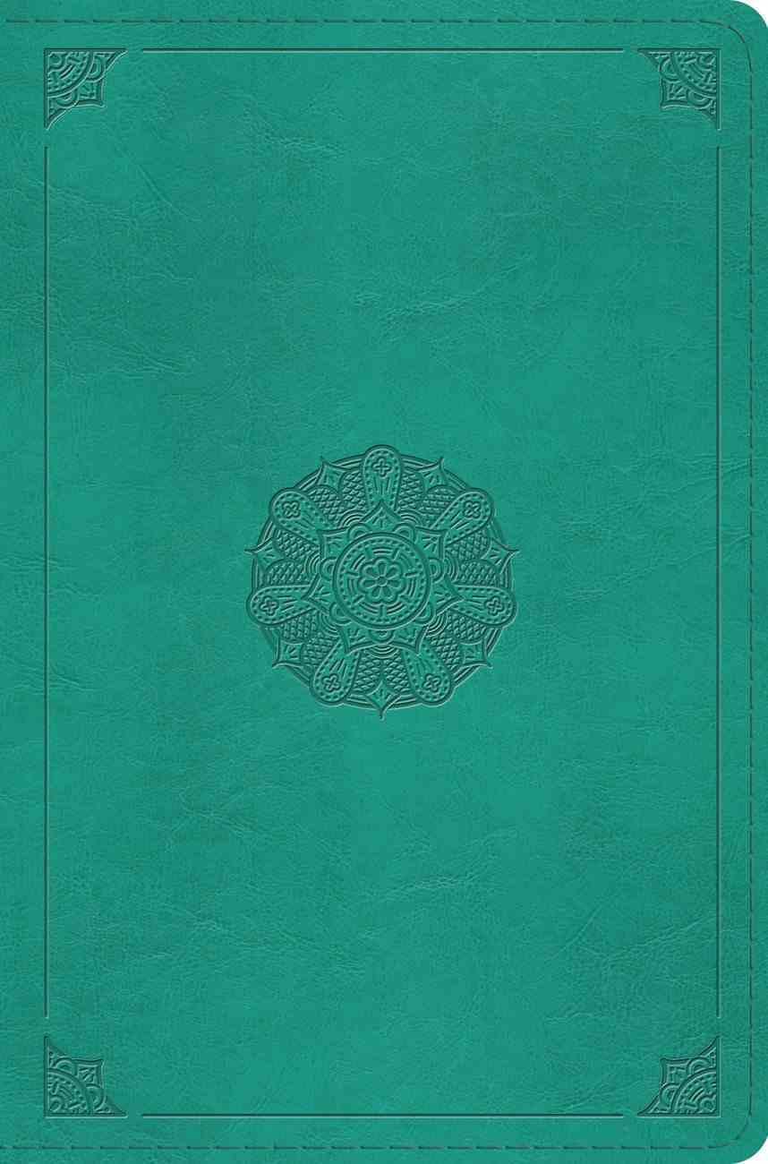 ESV Compact Bible Turquoise Emblem Design Imitation Leather