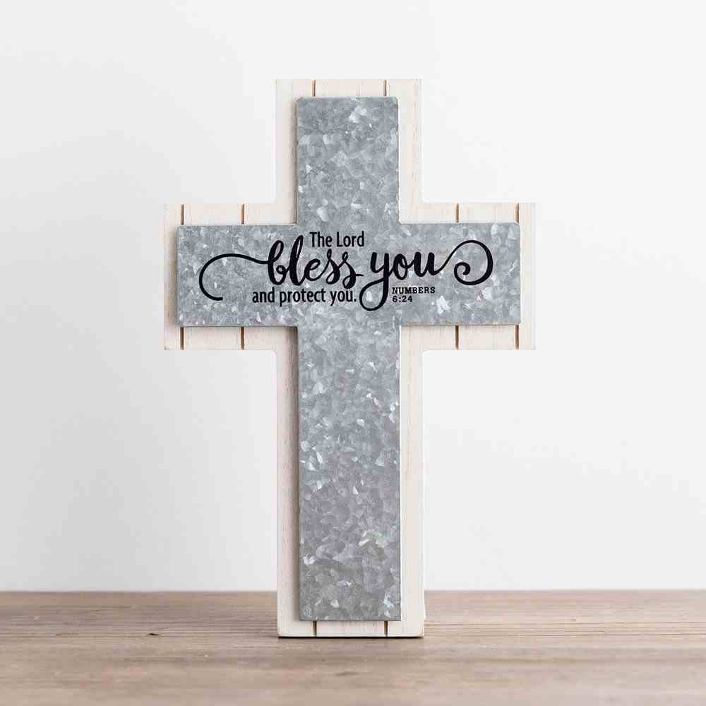 Wood Wall Cross: Bless You (Numbers 6:24) Plaque