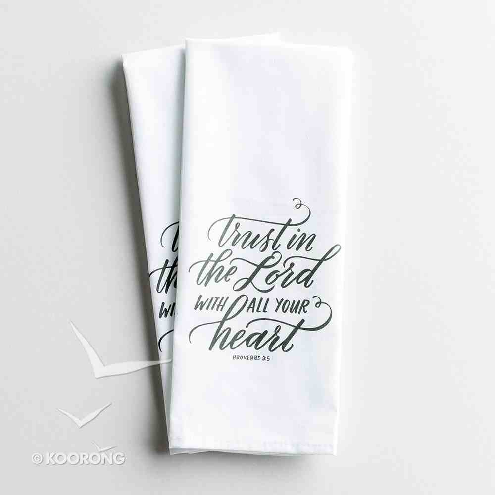 Tea Towel Trust in the Lord, Proverbs 3: 5, Set of 2, Same Design Homeware